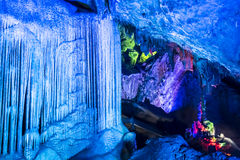 Dripstone cave (Reed flute cave) Royalty Free Stock Image