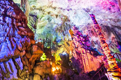 Dripstone cave (Reed flute cave) Stock Photography