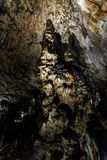 Dripstone column, stalagmite. Aggtelek Caves, Hungary, also called Baradla-Domica Caverns with a dripstone column, stalagmite Stock Photo