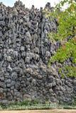 Dripstone Wall in the Wallenstein Garden in Prague, Czech Republic stock photography