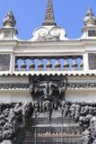 Dripstonemuur in Wallenstein-Paleis in Praag, Tsjechische Republc Stock Afbeelding