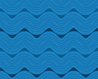 Dritte blaue purpurrote Wellen-Linie vertikales nahtloses Muster Walia Stockbild