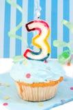 Dritter Geburtstag des Jungen Lizenzfreies Stockfoto
