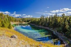 Dritter See, Tal der 5 Seen, Jasper National Park, Alberta Lizenzfreie Stockfotos