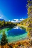 Dritter See, Tal der 5 Seen, Jasper National Park, Alberta Lizenzfreie Stockbilder