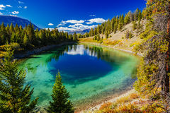 Dritter See, Tal der 5 Seen, Jasper National Park, Alberta Stockfoto
