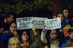 Dritter Tag des Protestes gegen coruption und rumänische Regierung Lizenzfreie Stockfotos