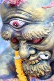 Drittes Auge der riesigen Statuen Stockfotos