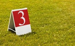 Drittes Konzeptfoto der Nr. 3 (drei) Lizenzfreie Stockfotos
