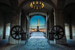 Drittes Tor von der Verstärkung von Alba Carolina Lizenzfreie Stockbilder