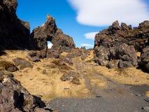 Dritvik plaża Iceland Zdjęcia Royalty Free