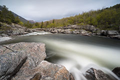 Driva flod Arkivfoto