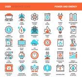Driva och energi vektor illustrationer