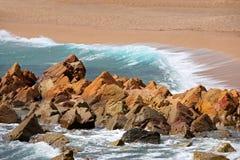 driva som fiskar medelhavs- netto havstonfisk spain Royaltyfria Foton