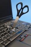 drivande tangentbordbärbar datorsax Royaltyfri Bild
