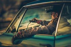 Drive αυτοκινήτων μυών κάουμποϋ Στοκ εικόνα με δικαίωμα ελεύθερης χρήσης