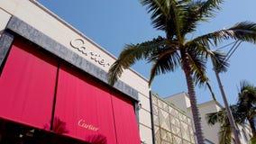 Drive ροντέο στο Μπέβερλι Χιλς - κατάστημα Cartier - ΛΟΣ ΑΝΤΖΕΛΕΣ, ΗΠΑ - 1 ΑΠΡΙΛ απόθεμα βίντεο