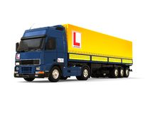 Drive σχολική έννοια φορτηγών ελεύθερη απεικόνιση δικαιώματος