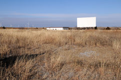 Drive-in. Abandoned drive-in theater along old Route 66, Weatherford, Oklahoma Stock Image