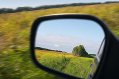 Drive across the field. Motion theme stock image