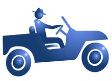 Drive Adventure Symbol Icon Royalty Free Stock Images