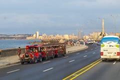 Drive along the Malecon, Havana, Cuba Stock Photos