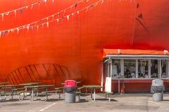 Drive-in arancio Immagine Stock Libera da Diritti
