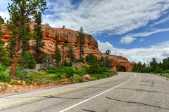 Drive Through Arch - Utah. Drive Through Arch along the highway in Utah outside Red Canyon Royalty Free Stock Images