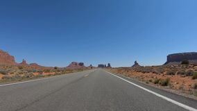 Drive through Arches National Park in Utah. Travel photography stock video