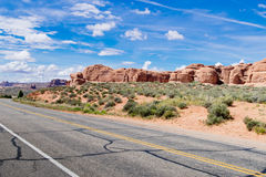 Drive Through in Arches National Park Stock Image