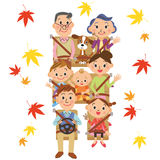 It is drive autumn in good friend families Stock Images