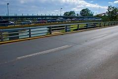 Drive through the border Stock Photography