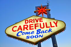 Drive Carefully Come Back soon Stock Image