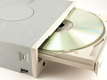 Drive for CD-ROM. On the white background Stock Photo