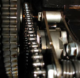 Drive chain. Inside view of Engine chain Stock Image