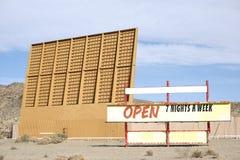 Drive-in cinema in the desert Stock Photos