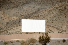 Drive-in cinema in the desert Royalty Free Stock Photo