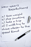Drive closer to the speed limit. New year resolution Royalty Free Stock Image