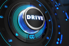Drive Controller on Black Control Console Royalty Free Stock Images