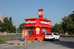 Drive through Derby Coffee House in Manama Royalty Free Stock Photo