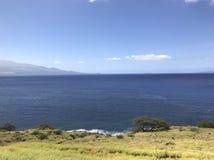 Mountains on Maui. Drive down Maui's cost stock image