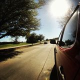 Drive. Driving under the sun with my gopro Stock Photos