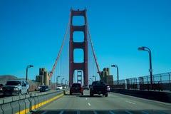 Drive on Golden Gate Bridge stock photo