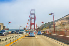 Drive through Golden Gate Royalty Free Stock Photography