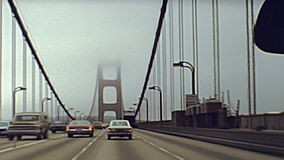 Drive through Golden Gate stock video footage