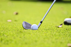 Drive the golf ball Royalty Free Stock Photo