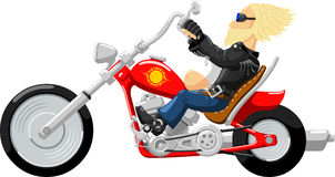 Drive the highway bike Royalty Free Stock Images