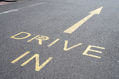 Drive In Road Marking Royalty Free Stock Photos