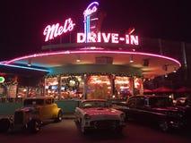 Drive-inbio för Mel` s Arkivfoto