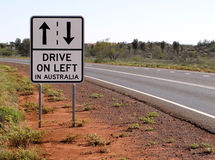 Drive on Left in Australia Royalty Free Stock Image